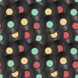 Vinyl records seamless background Stock Photo