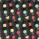 Vinyl records seamless background Stock Photo