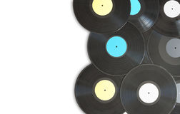 Vinyl records with space Royalty Free Stock Image