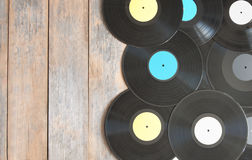 Vinyl records with space Stock Photography