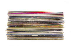 Vinyl records stack Royalty Free Stock Photos