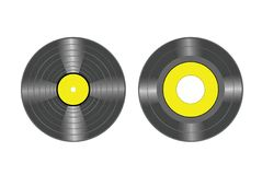 Vinyl records vector Royalty Free Stock Photos