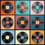 Vinyl Records Vector Illustration. stock illustration