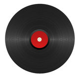 Vinyl red disc illustration Stock Photos