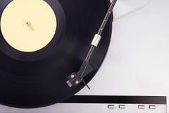 Vinyl retro cellphone Retro audio in studio Royalty-vrije Stock Foto