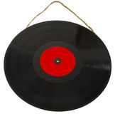 Vinyl 33 rpm hanging with string. As a picture Royalty Free Stock Image