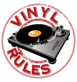 Vinyl rules background Royalty Free Stock Images