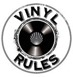 Vinyl rules background Stock Photo