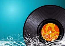 Vinyl schijf Royalty-vrije Stock Afbeeldingen