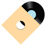 Vinyl with several compositions. Vinyl record with several musical compositions. Vector illustration Stock Photos