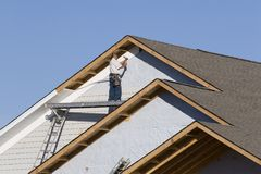 Vinyl siding installation 2 Stock Photography