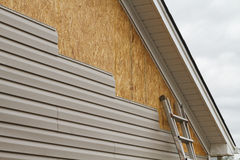 Vinyl Siding Installation On A House In The South Royalty Free Stock Images