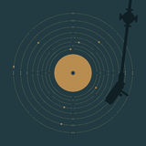 Vinyl and solar system Stock Photography