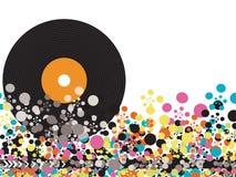 Vinyl springt Discopunkte heraus Stockbild