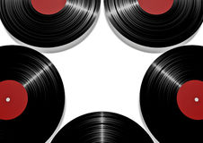Vinyl star. 3D render of vinyl records forming star shape Royalty Free Stock Images