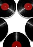 Vinyl star. 3D render of vinyl records forming star shape Stock Photo