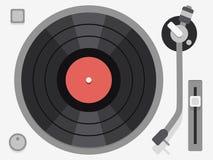 Vinyl turntable. Flat vector illustration Royalty Free Stock Photos