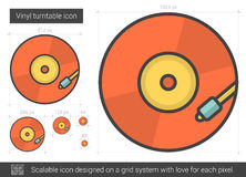 Vinyl turntable line icon. Stock Photography