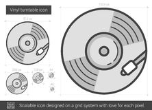 Vinyl turntable line icon. Royalty Free Stock Image