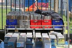 Vinyl-und CD-Markt Stockbild