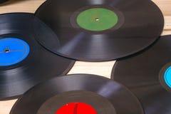Vinyl verslag Exemplaarruimte voor tekst Stock Foto's