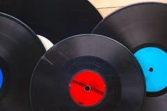 Vinyl verslag Exemplaarruimte voor tekst Stock Foto