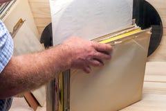 Vinyl verslag Exemplaarruimte voor tekst Royalty-vrije Stock Foto