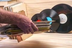 Vinyl verslag Exemplaarruimte voor tekst Royalty-vrije Stock Foto's