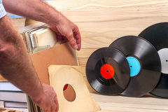Vinyl verslag Exemplaarruimte voor tekst Stock Fotografie