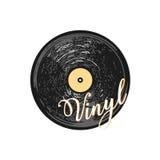 Vinyl verslag Geïsoleerde grafische illustratie Vector Royalty-vrije Stock Afbeeldingen