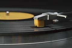 Vinyl verslag op draaischijf Royalty-vrije Stock Foto