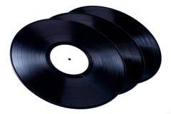 Vinyl verslagen Stock Afbeeldingen