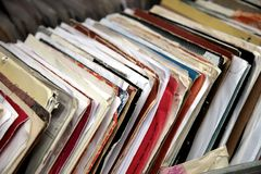 Vinyl verslagen Stock Afbeelding