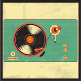 Vinyl vintage player. Vector for your ideas Royalty Free Stock Images