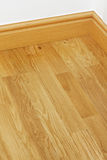 Vinyl wooden flooring mdf skirting boards Royalty Free Stock Images