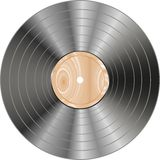 Vinyl wooden record isolated on white Stock Photography