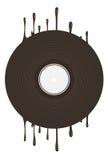 Vinylachtergrond Royalty-vrije Stock Fotografie