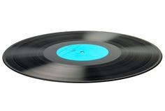 Vinyldieschijf op wit wordt geïsoleerd Stock Fotografie