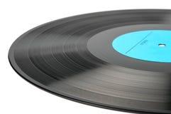 Vinyldieschijf op wit wordt geïsoleerd Royalty-vrije Stock Afbeeldingen