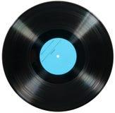 Vinyldieschijf op wit wordt geïsoleerd Royalty-vrije Stock Fotografie