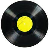 Vinyldieschijf op witte achtergrond wordt geïsoleerd Royalty-vrije Stock Fotografie