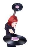 Vinyldisco-Mädchen Stockbilder