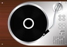 Vinyldisketten-Rekordspielerweinleseartvektor Stockfoto