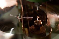 Vinyldiskettenproduktion Stockfotografie