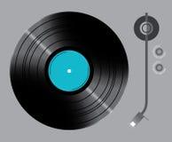 Vinyldraaischijf met schakelaars Royalty-vrije Stock Afbeelding
