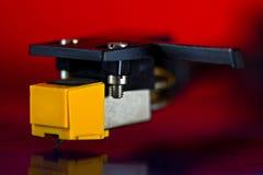 Vinyldrehscheibenahaufnahme Stockfotos