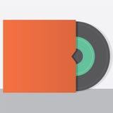 Vinyle avec le style de vintage d'enveloppe Images stock