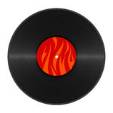 Vinyle chaud Image libre de droits