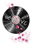 Vinyle d'amour Photo stock
