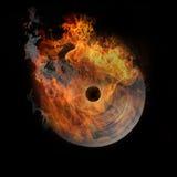 Vinyle en incendie, très chaud Illustration Stock